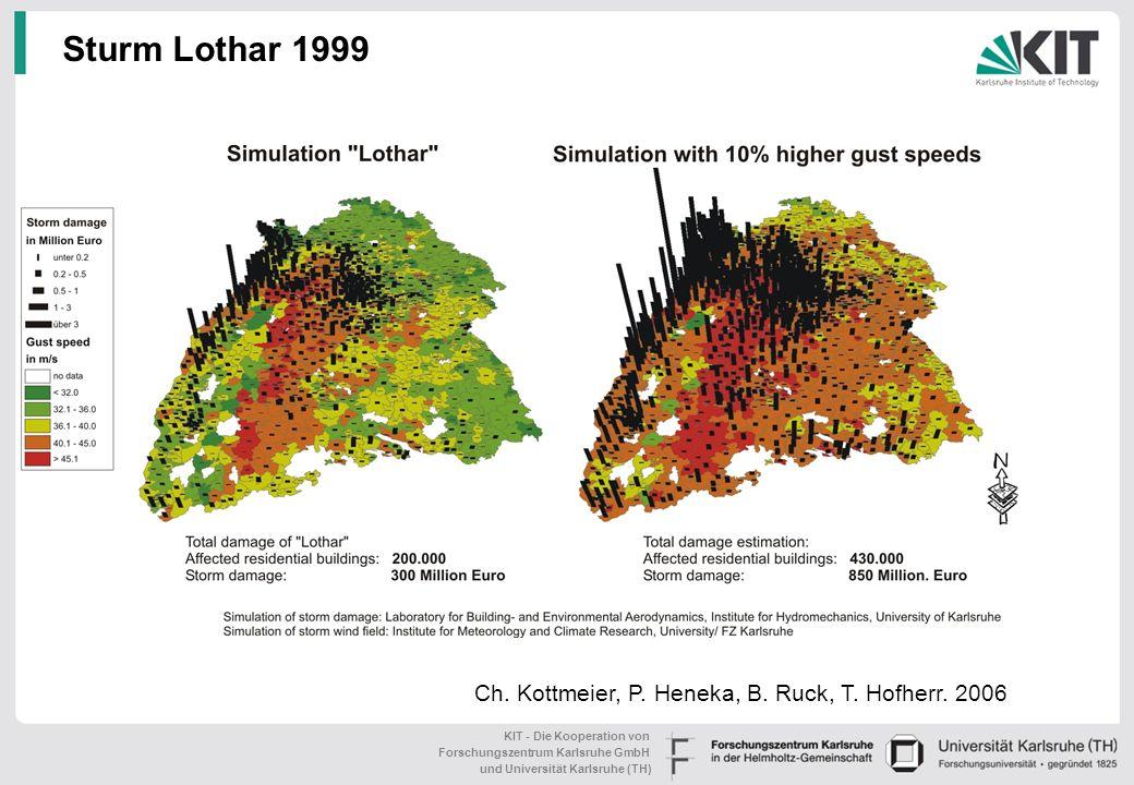 Sturm Lothar 1999 Ch. Kottmeier, P. Heneka, B. Ruck, T. Hofherr. 2006