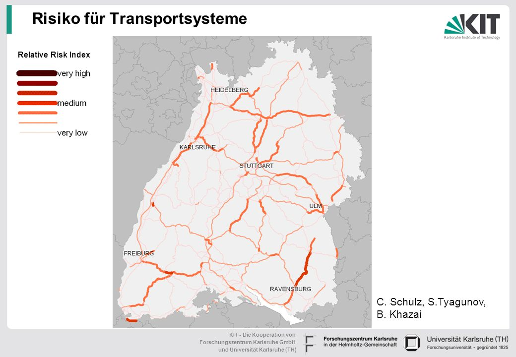 Risiko für Transportsysteme