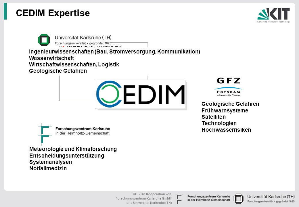 CEDIM Expertise