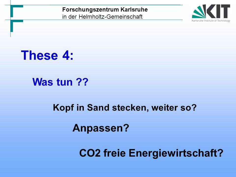 These 4: Was tun Kopf in Sand stecken, weiter so