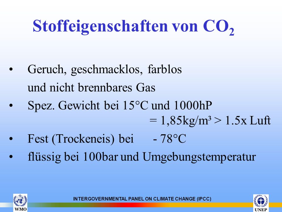 Stoffeigenschaften von CO2