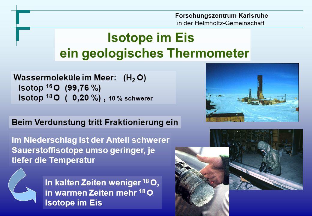 ein geologisches Thermometer