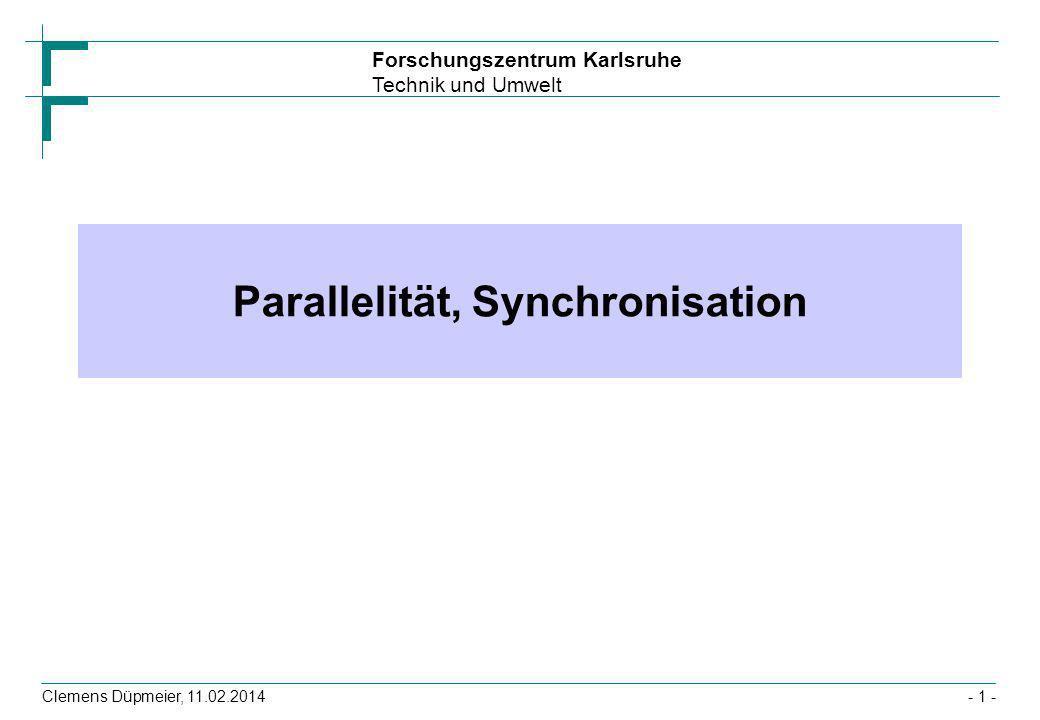 Parallelität, Synchronisation