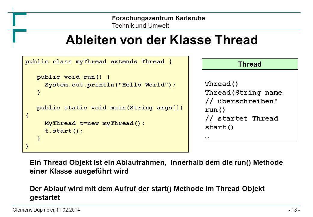 Ableiten von der Klasse Thread