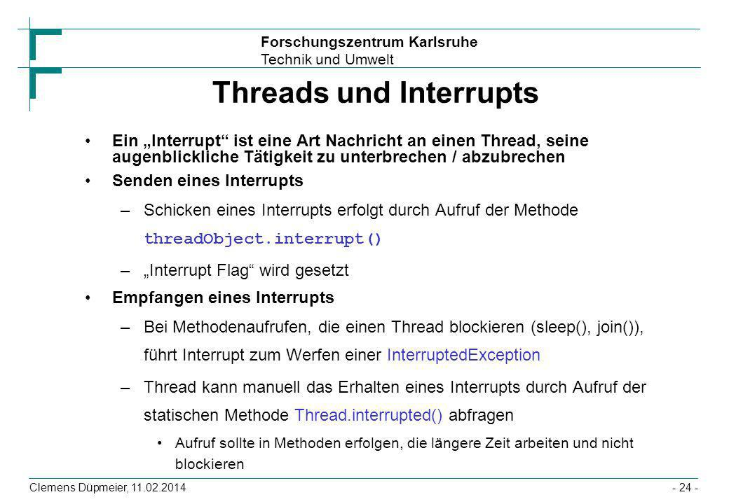 Threads und Interrupts