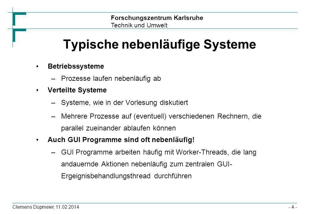 Typische nebenläufige Systeme