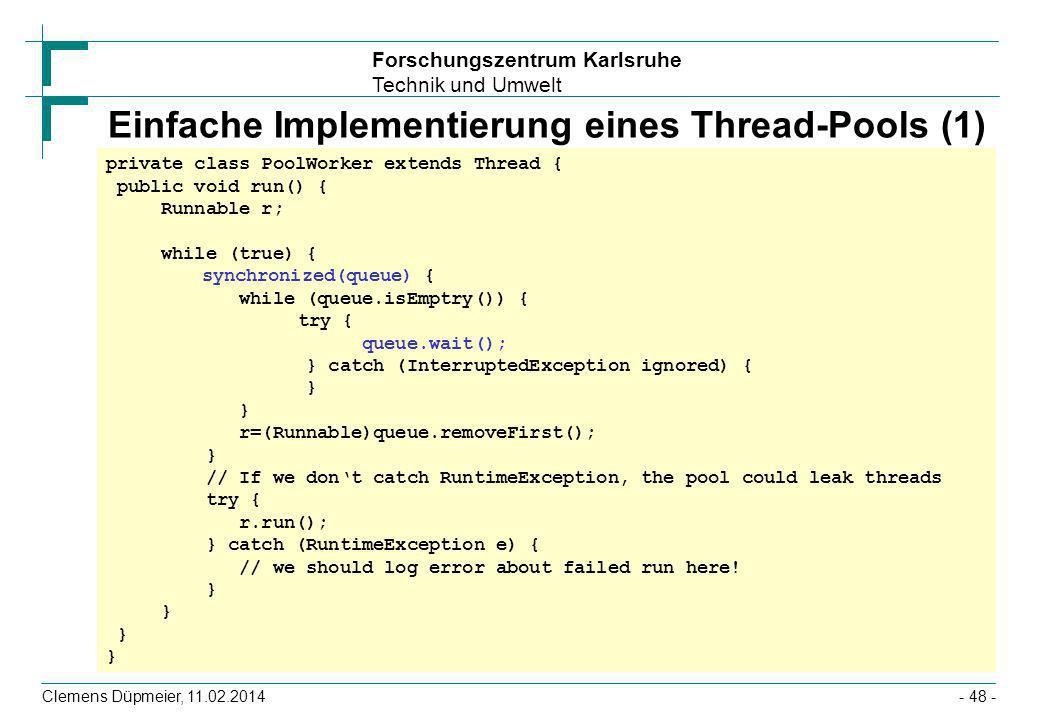 Einfache Implementierung eines Thread-Pools (1)