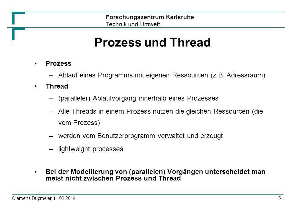 Prozess und Thread Prozess
