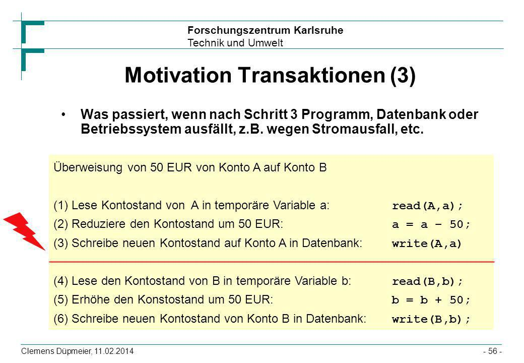 Motivation Transaktionen (3)