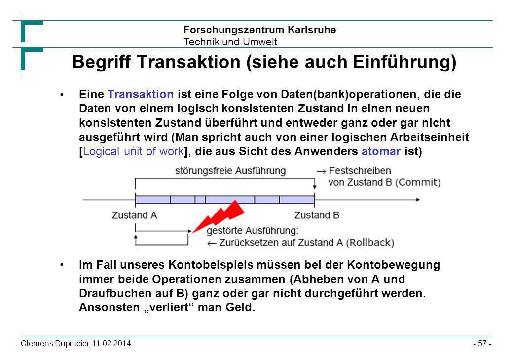 Begriff Transaktion (siehe auch Einführung)