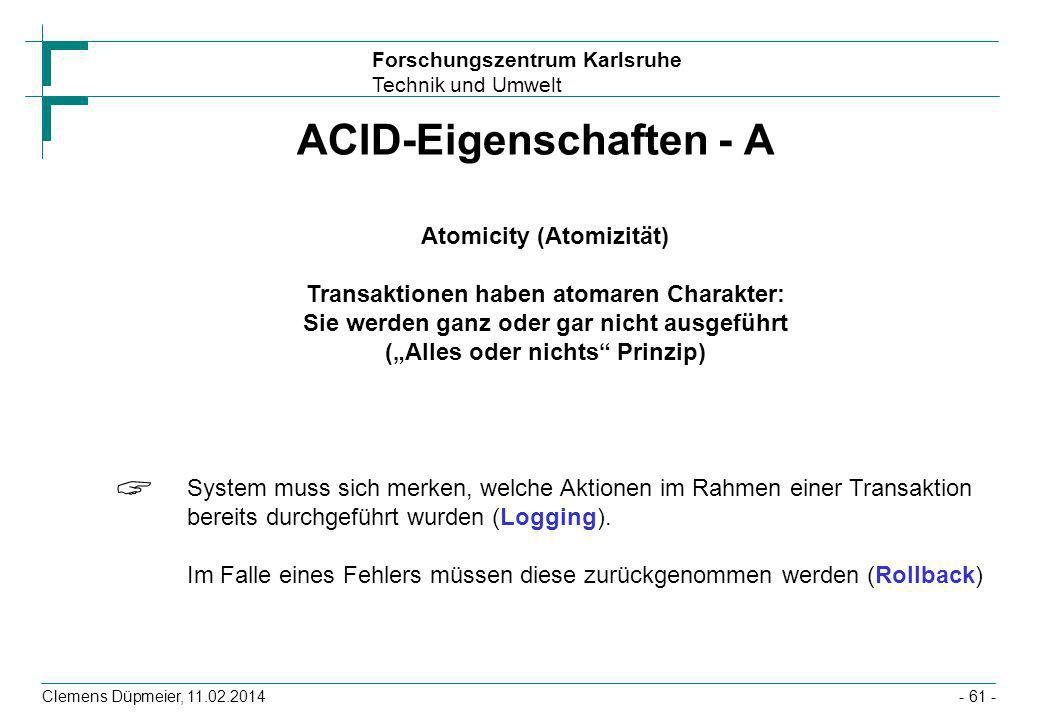 ACID-Eigenschaften - A