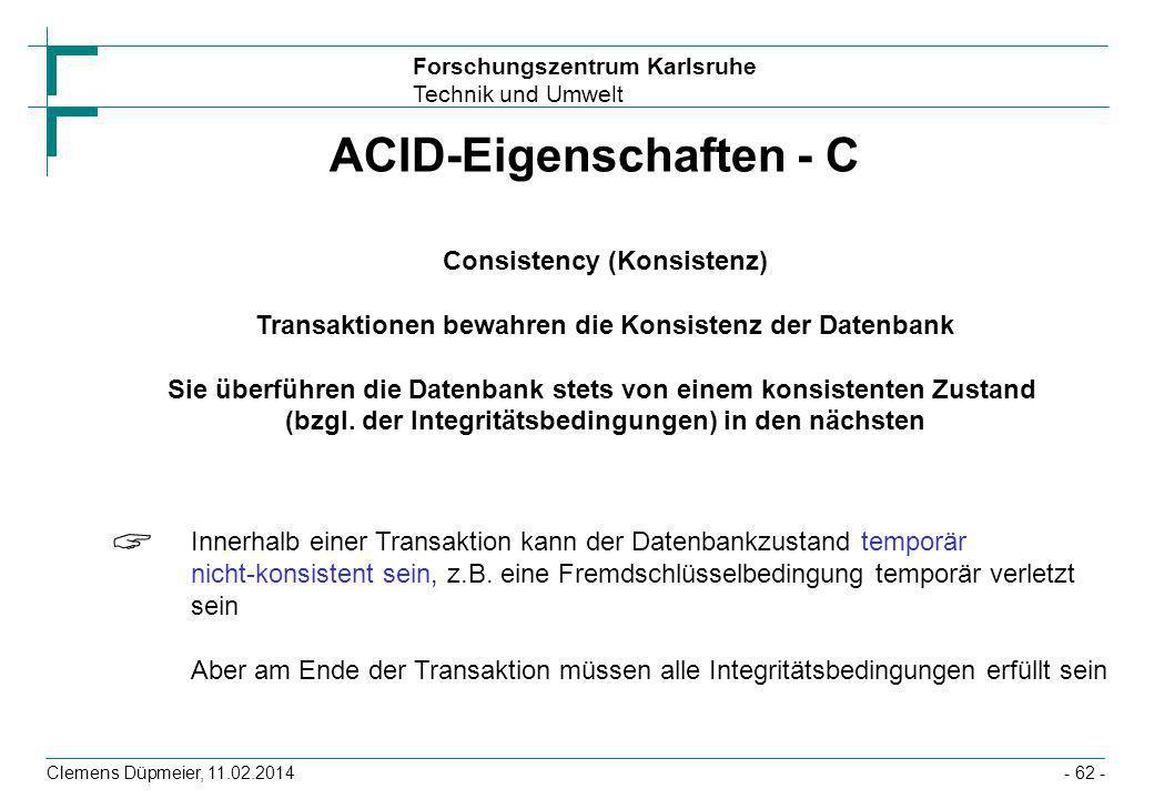 ACID-Eigenschaften - C