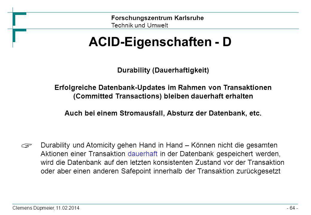 ACID-Eigenschaften - D