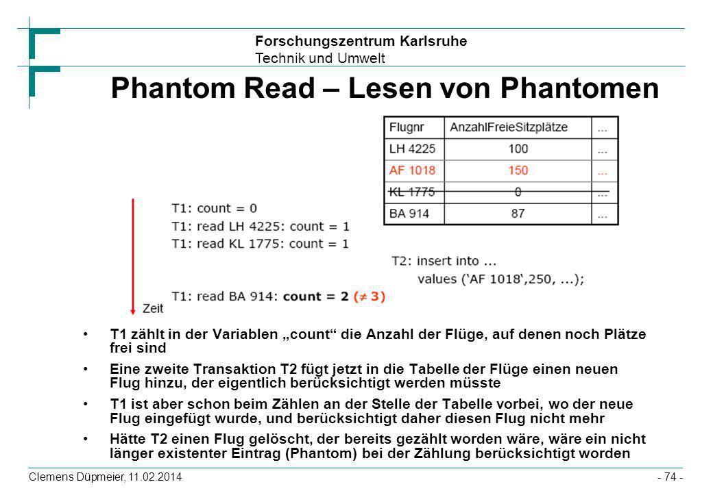 Phantom Read – Lesen von Phantomen