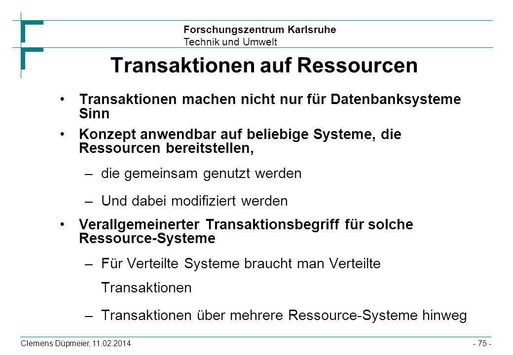 Transaktionen auf Ressourcen