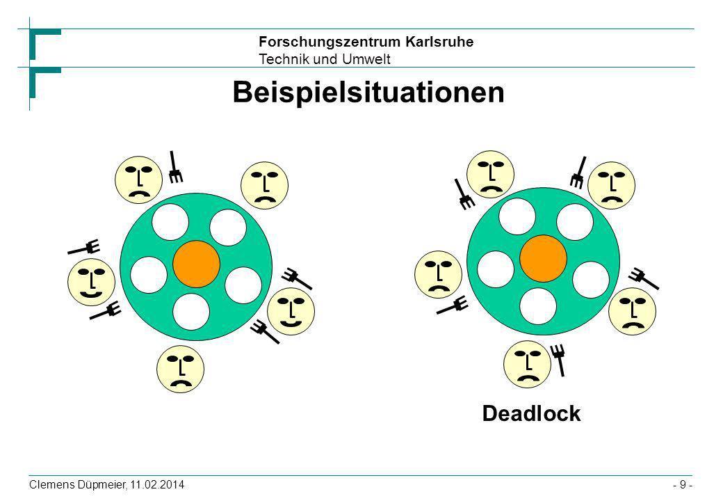 Beispielsituationen Deadlock Clemens Düpmeier, 28.03.2017