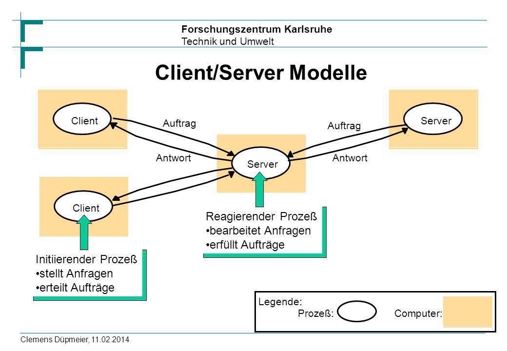 Client/Server Modelle