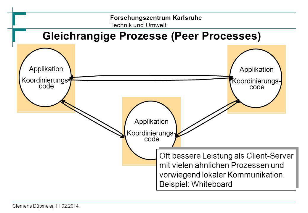 Gleichrangige Prozesse (Peer Processes)