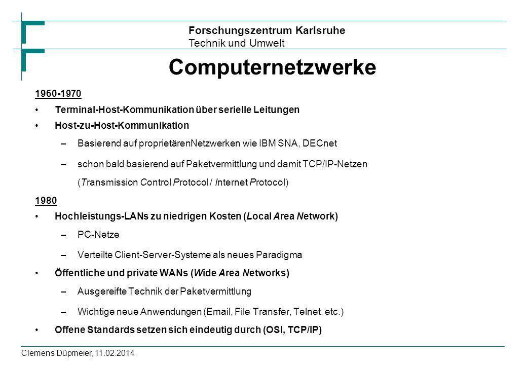 Computernetzwerke 1960-1970. Terminal-Host-Kommunikation über serielle Leitungen. Host-zu-Host-Kommunikation.
