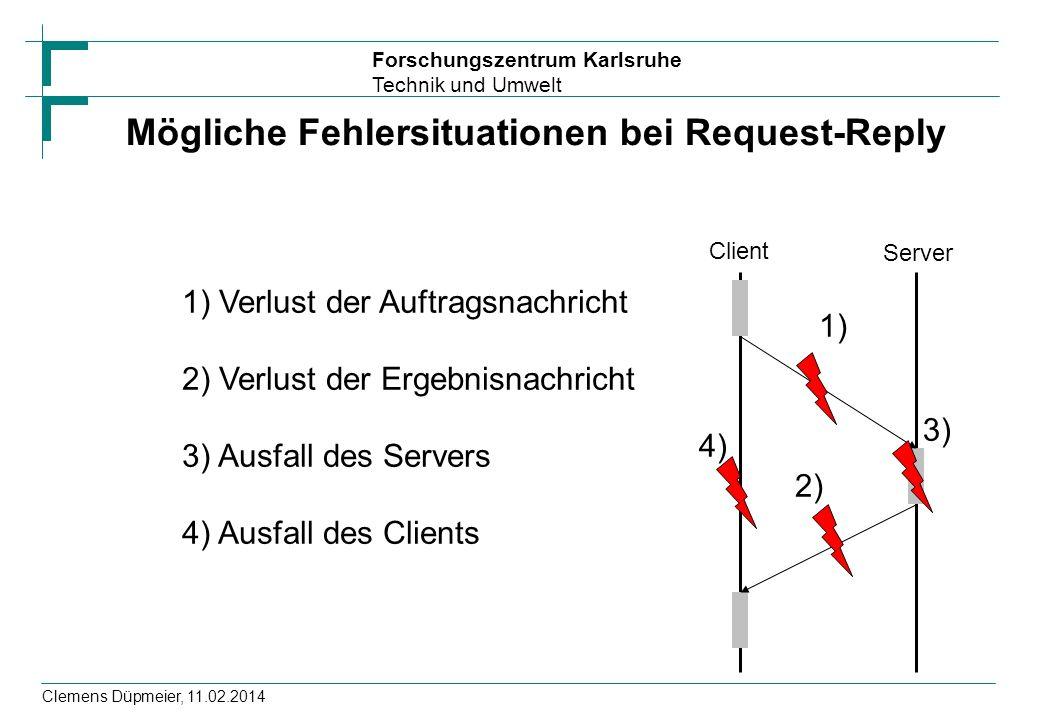 Mögliche Fehlersituationen bei Request-Reply