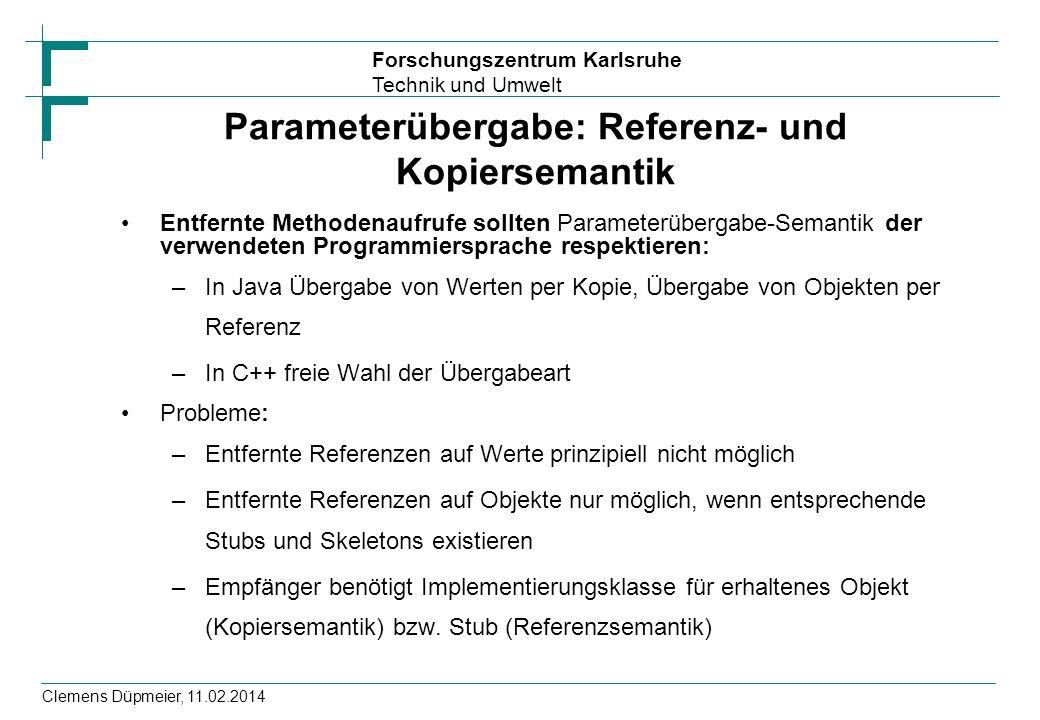 Parameterübergabe: Referenz- und Kopiersemantik