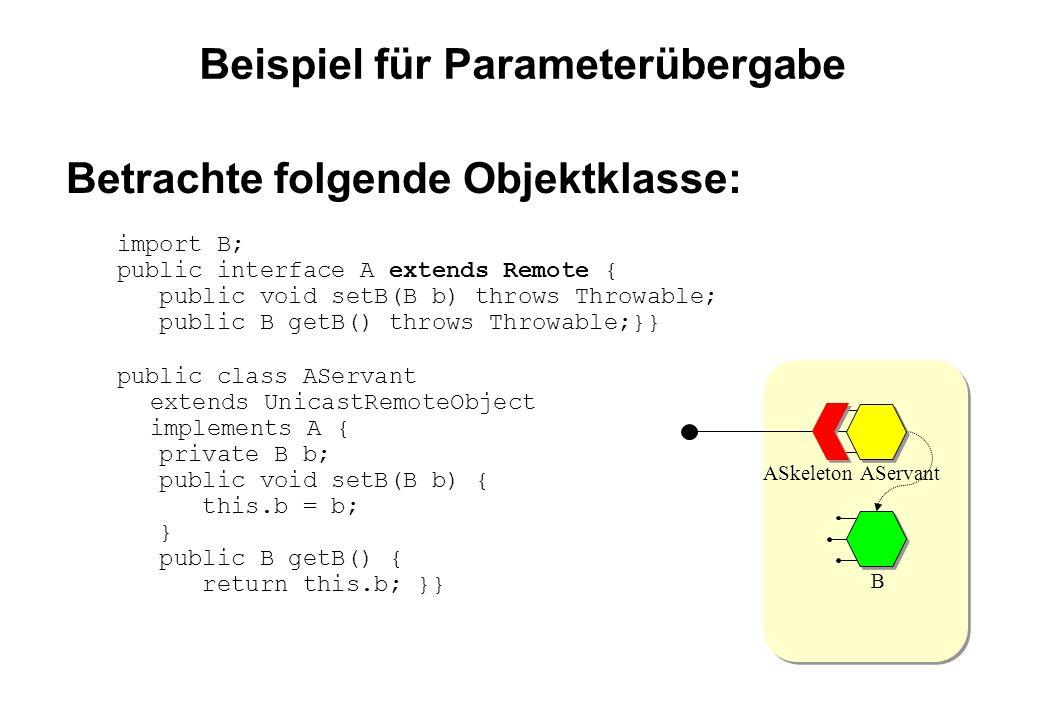 Beispiel für Parameterübergabe