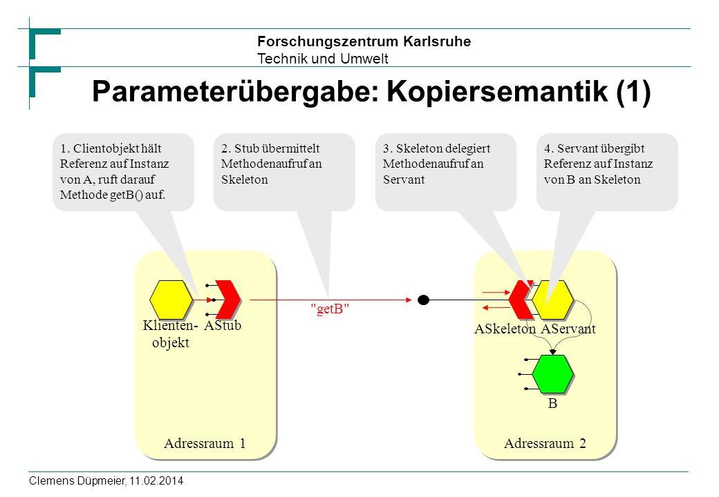 Parameterübergabe: Kopiersemantik (1)