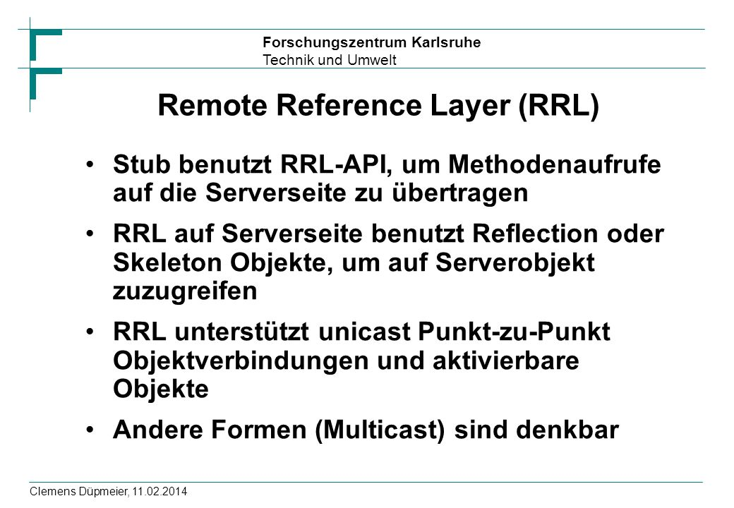 Remote Reference Layer (RRL)