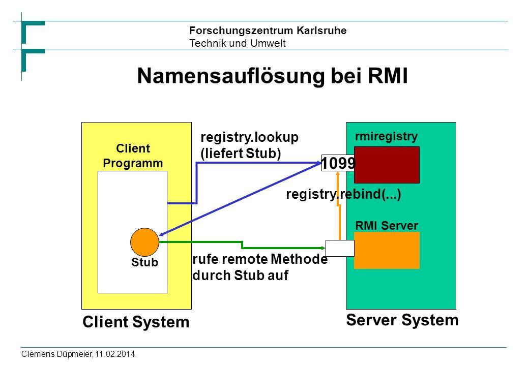 Namensauflösung bei RMI