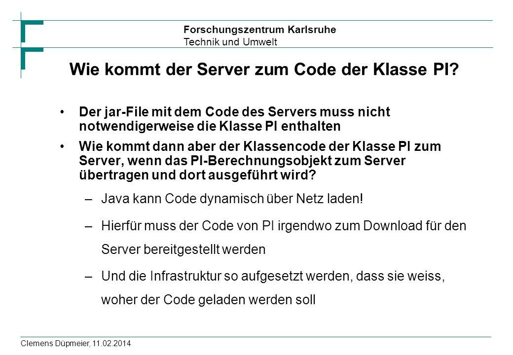 Wie kommt der Server zum Code der Klasse PI