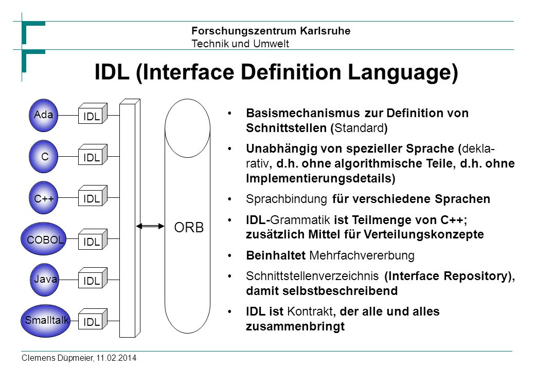 IDL (Interface Definition Language)