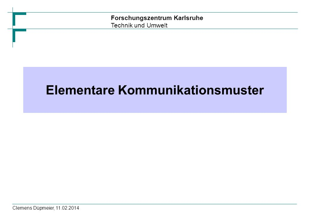 Elementare Kommunikationsmuster