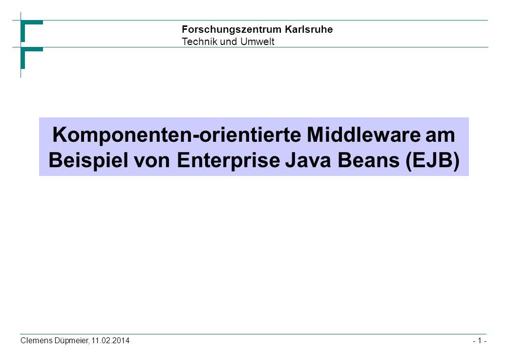 Komponenten-orientierte Middleware am Beispiel von Enterprise Java Beans (EJB)