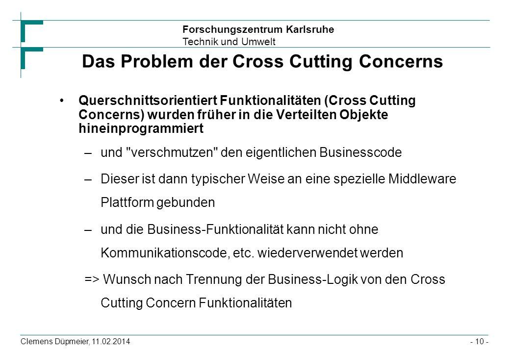 Das Problem der Cross Cutting Concerns