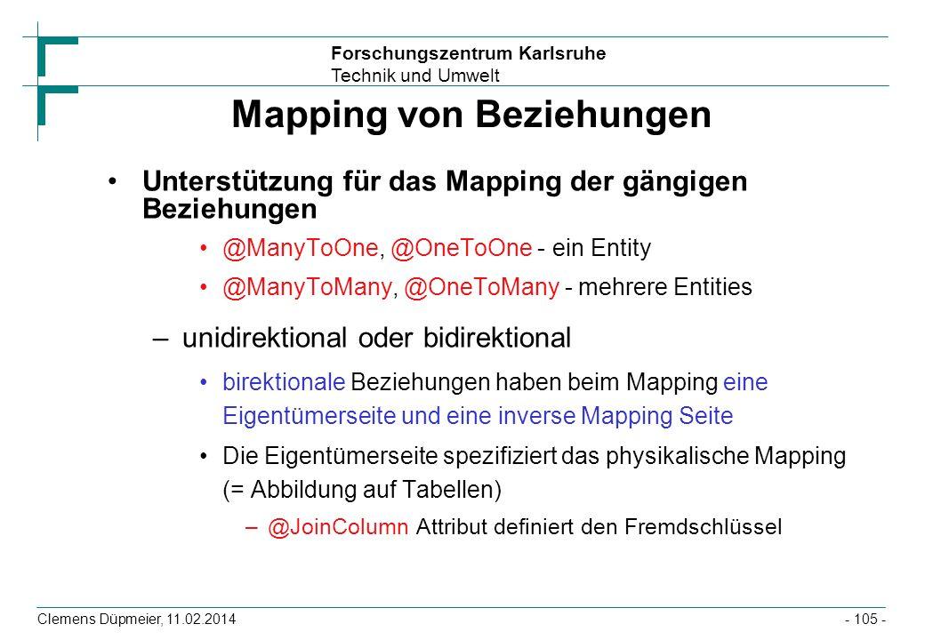 Mapping von Beziehungen