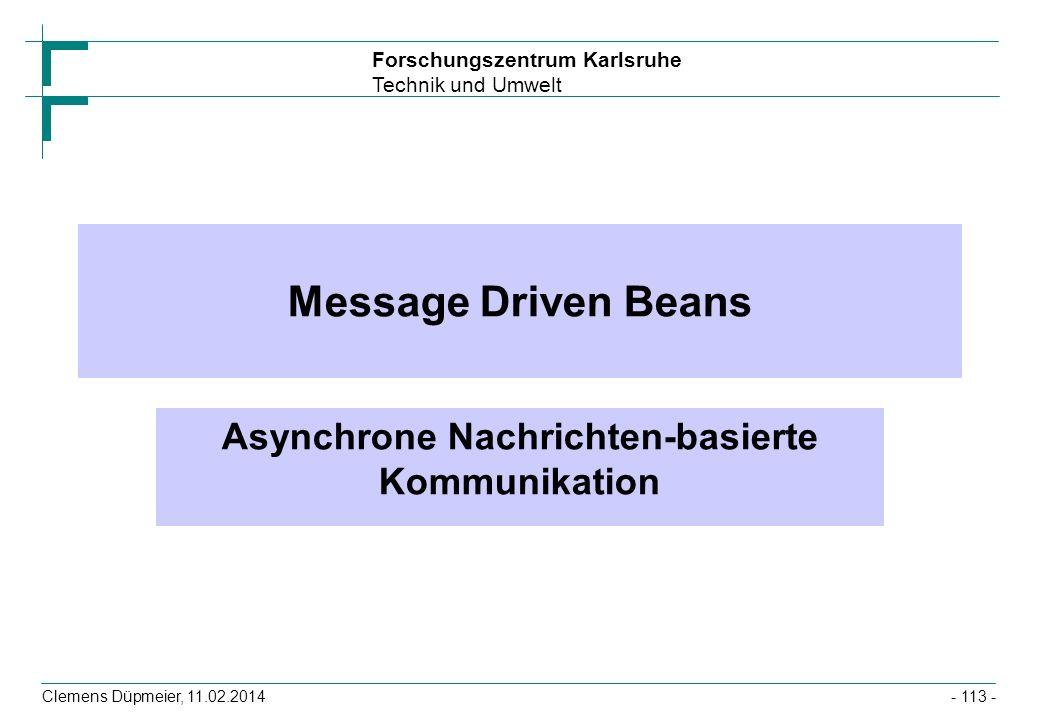 Asynchrone Nachrichten-basierte Kommunikation