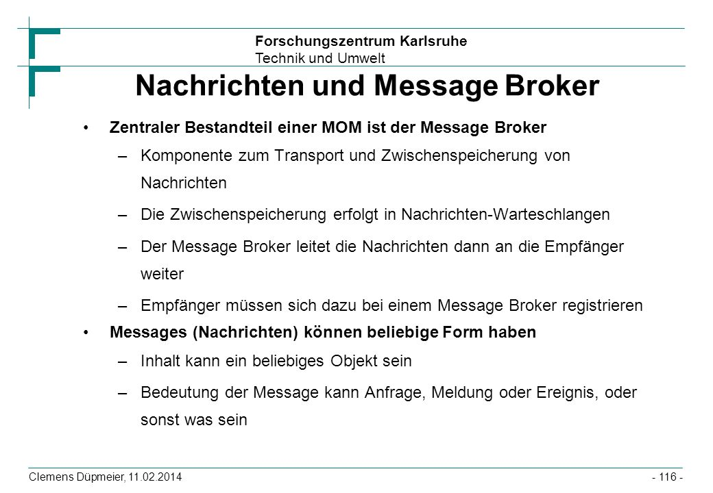 Nachrichten und Message Broker