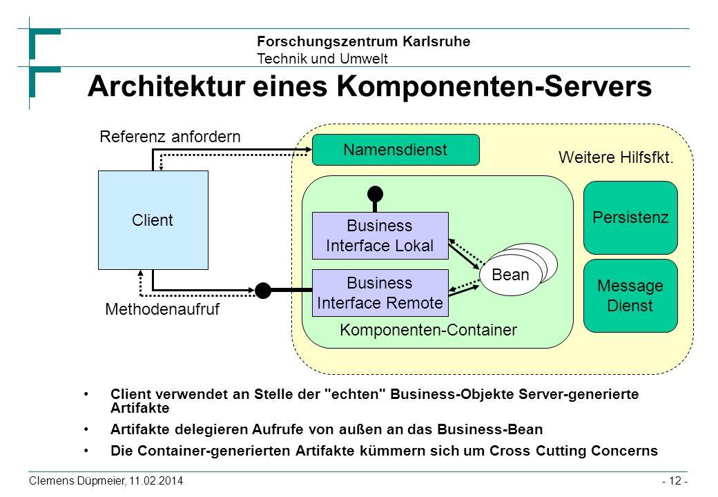 Architektur eines Komponenten-Servers