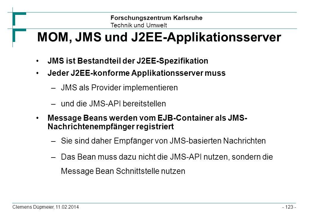 MOM, JMS und J2EE-Applikationsserver