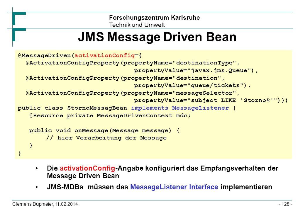 JMS Message Driven Bean