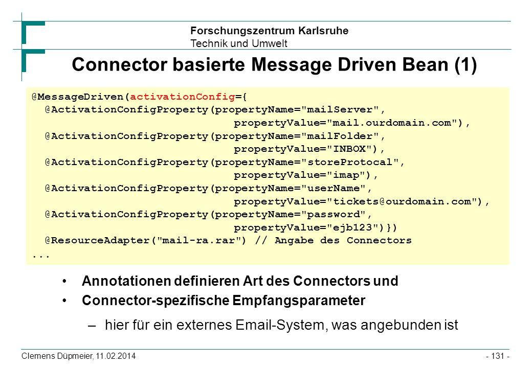 Connector basierte Message Driven Bean (1)