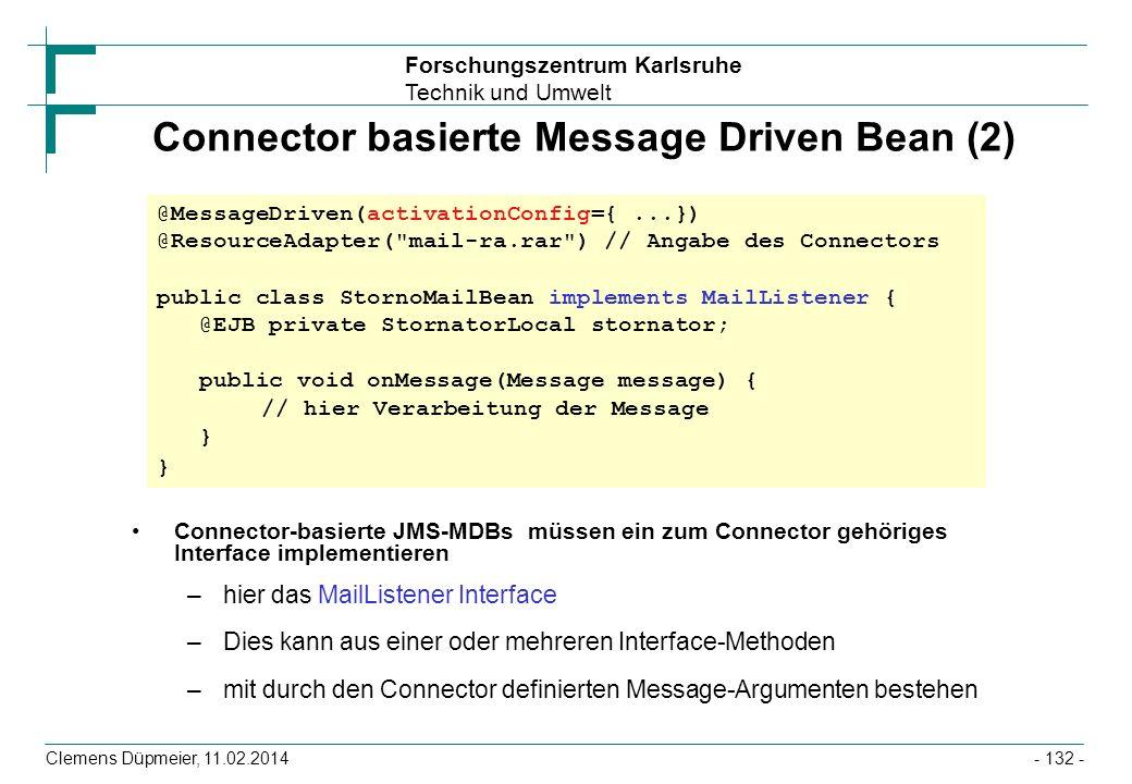 Connector basierte Message Driven Bean (2)