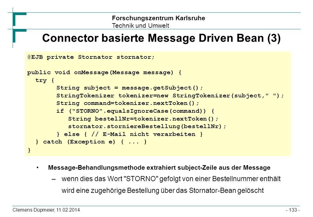 Connector basierte Message Driven Bean (3)