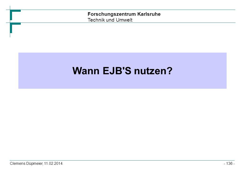 Wann EJB S nutzen Clemens Düpmeier, 28.03.2017