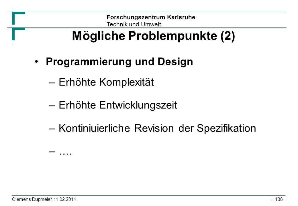 Mögliche Problempunkte (2)