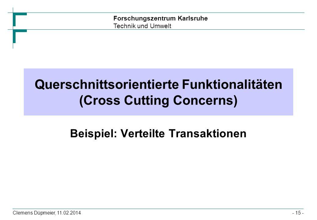 Querschnittsorientierte Funktionalitäten (Cross Cutting Concerns)