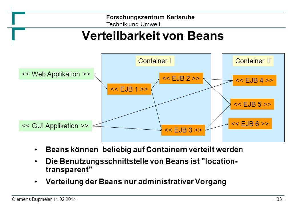 Verteilbarkeit von Beans