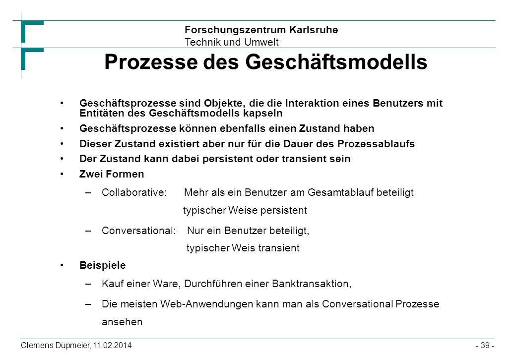 Prozesse des Geschäftsmodells
