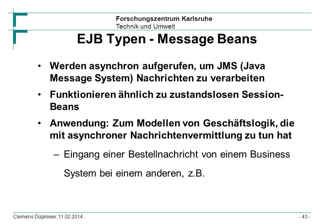 EJB Typen - Message Beans