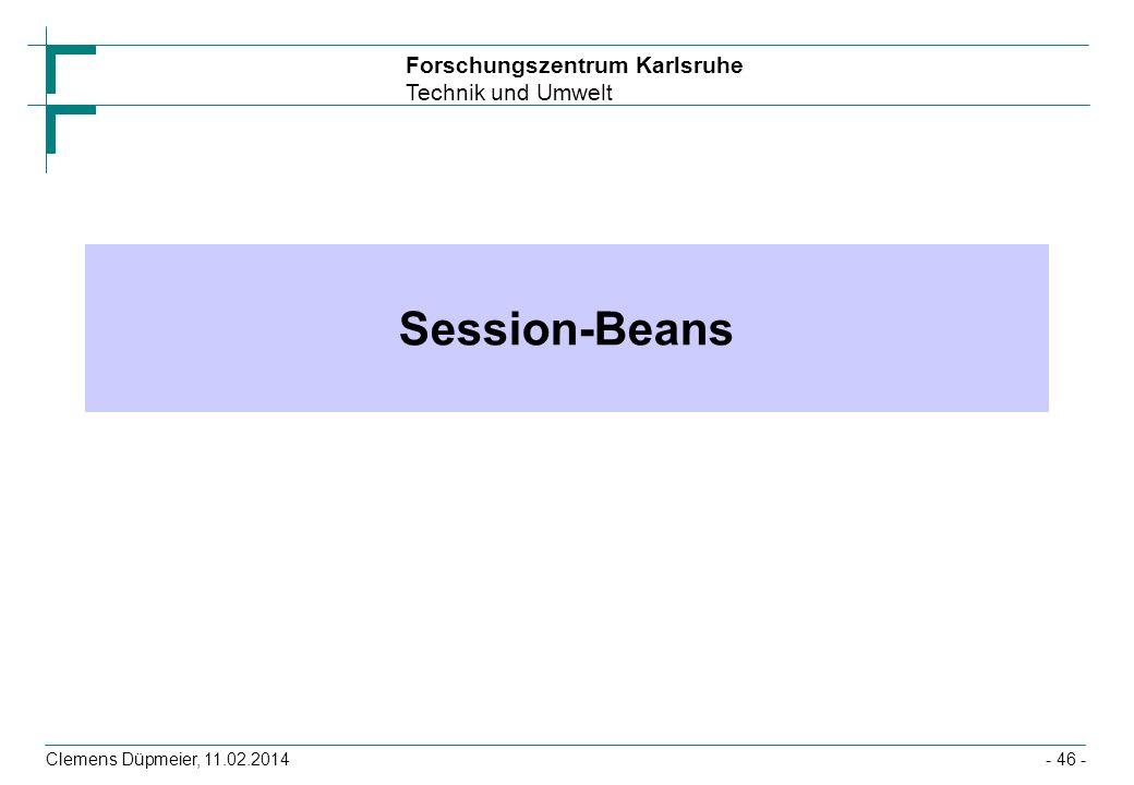 Session-Beans Clemens Düpmeier, 28.03.2017